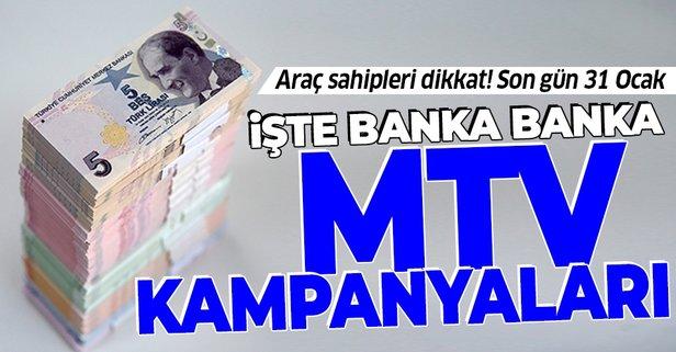 Araç sahipleri dikkat! Hangi banka MTV'ye kaç taksit yapıyor?