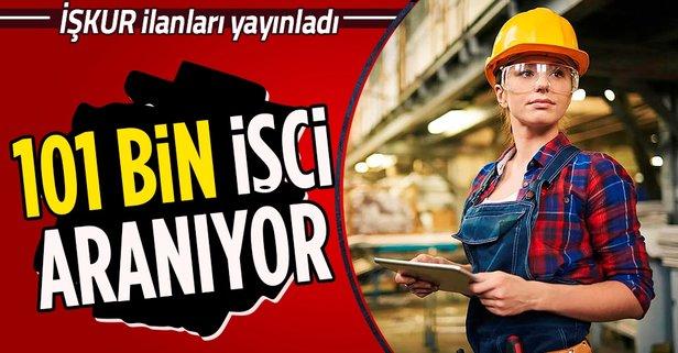 101 bin işçi aranıyor