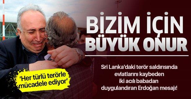 Başkan Erdoğan'ın şehit saydırması büyük onur