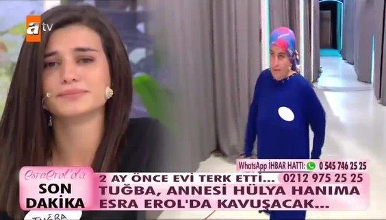 Esra Erol'da sürpriz gelişme! Esra Erol'da Tuğba annesine kavuştu