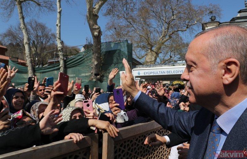 Başkan Erdoğan'a Eyüpsultan'da sevgi seli