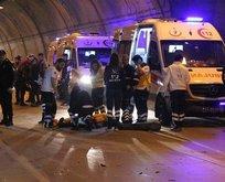 Dolmabahçe Tüneli'nde kaza!