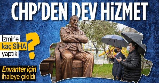 CHP İzmir'deki heykelleri saydıracak