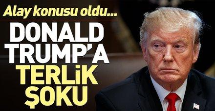ABD Başkanı Donald Trump'a terlik şoku! Fena alay ettiler...