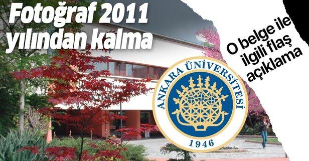 Ankara Üniversitesi'nden o belge ile ilgili açıklama