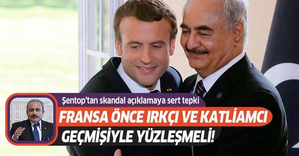 TBMM Başkanı Mustafa Şentop'tan Macron'a sert tepki!