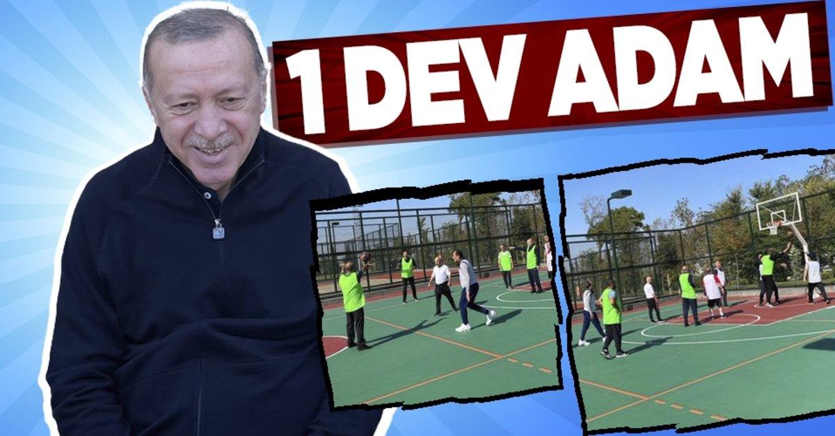 Başkan Recep Tayyip Erdoğan sabah basketbol maçında fark attı - Takvim