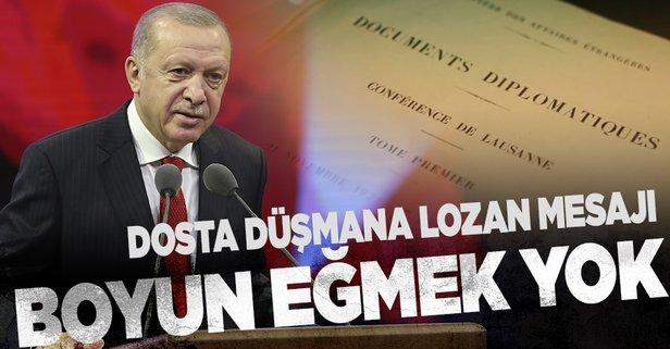 Başkan Erdoğan'dan Lozan açıklaması