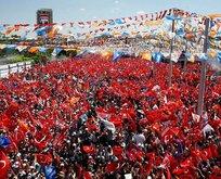 Erdoğan'ın mitinginde inanılmaz görüntü!