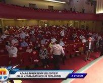 Adana Büyükşehir Belediyesi Meclisi'nde yumruklu kavga!