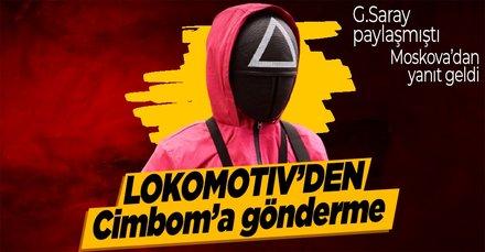 Lokomotiv Moskova'dan Galatasaray'a Squid Game temalı gönderme