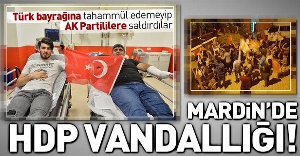 Mardinde çirkin saldırı! HDPliler AK Partilileri yaraladı