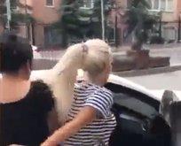 Sevgilisiyle beraber olan kadını tekme tokat dövdü!  