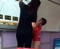Dayakçı öğretmene velilerden destek!