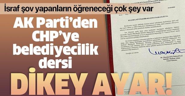 AK Parti'den CHP'ye belediyecilik dersi!