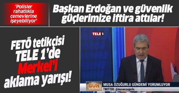 Tele 1 sunucusu Musa Özuğurlu'dan Başkan Erdoğan'a alçak iftira! Merkel'i  bu sözlerle savundu - Takvim