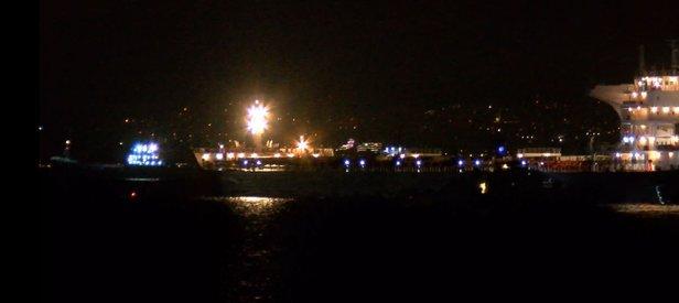 Son dakika: Zeytinburnu açıklarında iki gemi çarpıştı