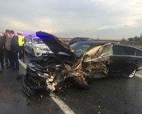 MHP Genel Başkan Yardımcısı trafik kazası geçirdi