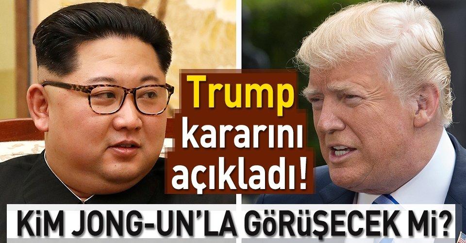 Trump Kim Jong-unla görüşecek mi?