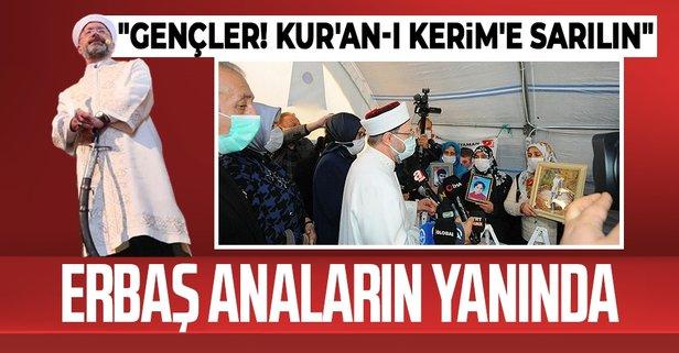 Diyanet İşleri Başkanı Diyarbakır annelerinin yanında