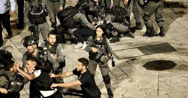 İsrail polisi Filistinlilere saldırmaya devam ediyor!