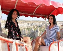 Yabancı mankenler Kapadokya'ya hayran kaldı