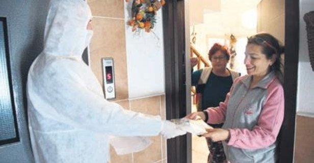 Evlere maske hizmeti