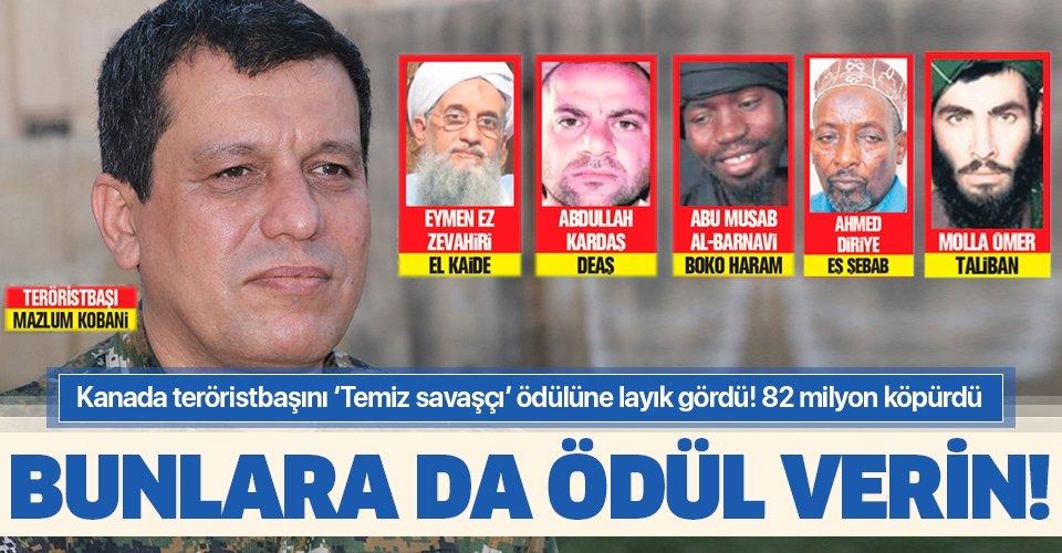 Kanada'dan PKK/YPG'li terörist Mazlum Kobani'ye skandal davet