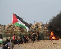 İsrail gerçek mermiyle saldırdı! 80 yaralı