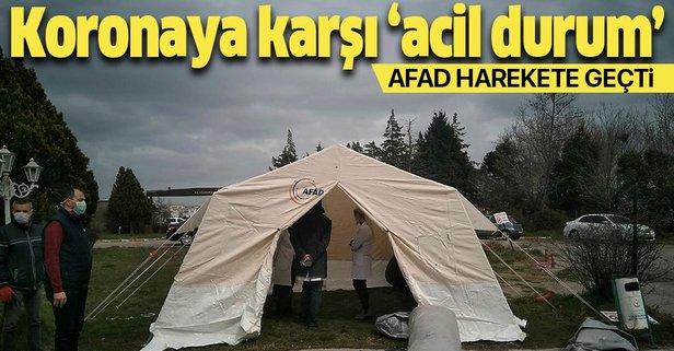 Koronavirüse karşı acil durum çadırları