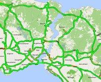 İstanbul trafiğinde tam kapanma etkisi