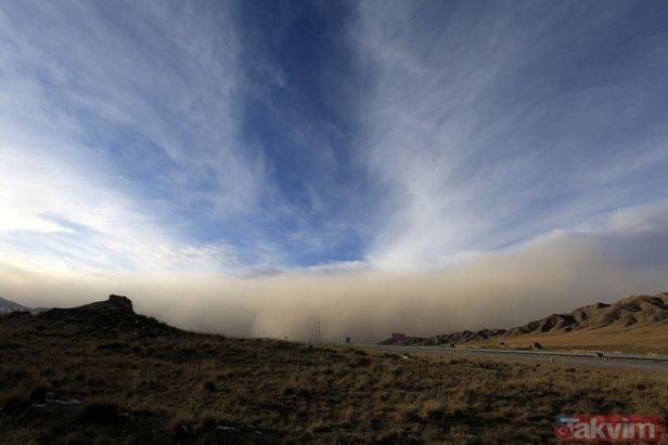 Çin'i kum fırtınası vurdu