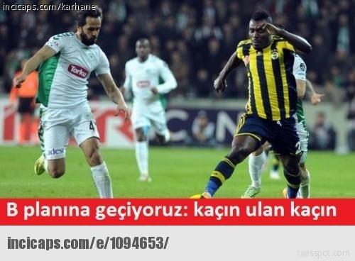 A. Konyaspor-F.Bahçe maçı caps'leri