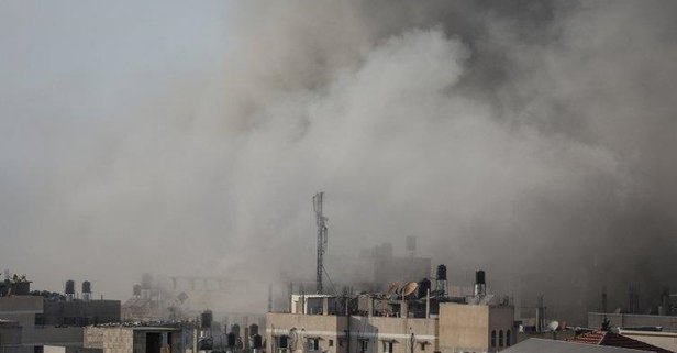 İşgalci İsrail yine Gazzeye saldırdı!