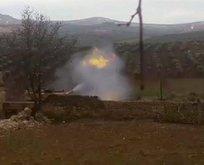 Afrin'den sıcak çatışma! Tanklar böyle vurdu