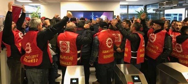 250 işçi CHPli Çankaya Belediyesini bastı