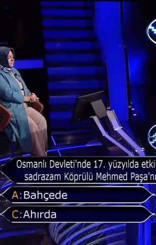 Kim Milyoner Olmak İster'in842. bölümüne damga vuran Köprülü Mehmed Paşa sorusu! İşte 842. bölüm soru ve cevapları