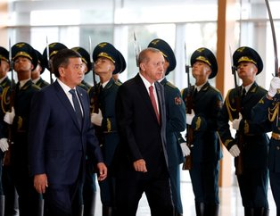 Başkan Erdoğan'a Kırgızistan'da sürpriz ikram