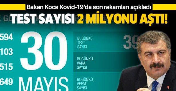 Bakan Koca Kovid-19 vaka sayılarını açıkladı