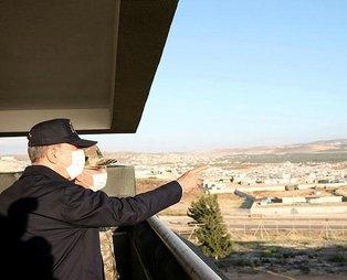 Son dakika: Bakan Akar, Suriye sınırından duyurdu: 13 terörist etkisiz hale getirildi