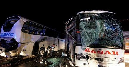 Çorum'da yolcu otobüsleri çarpıştı: 13 yaralı