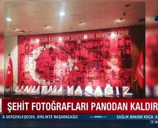 CHP'li İBB'den 15 Temmuz şehitlerine büyük saygısızlık: Şehitler köşesini yeni yıl panosu yaptılar