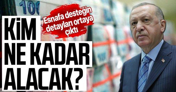 Başkan Erdoğan'dan esnafa yeni destek müjdesi