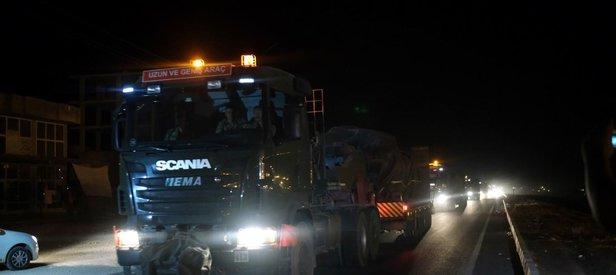 Şanlıurfa'da Suriye sınırına zırhlı araç ve personel takviyesi