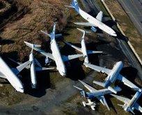 Atatürk Havalimanı'ndaki sahipsiz uçaklar böyle görüntülendi!