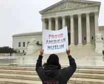 ABD'de Müslümanlara vize yasağı protesto edildi