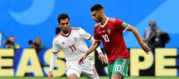 İran son dakikada bulduğu golle Fas'ı 1-0 mağlup etti