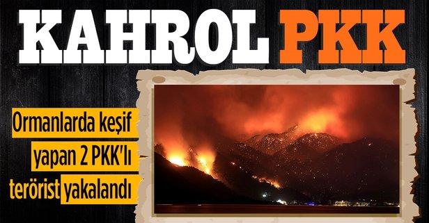 Ormanlarda keşif yapan 2 PKK'lı terörist yakalandı
