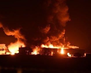 Son dakika: Tekirdağ'da geri dönüşüm tesisinde yangını