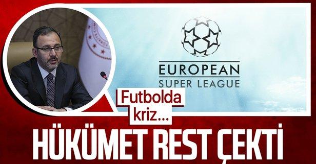 Hükümetten Avrupa Süper Ligi'ne rest